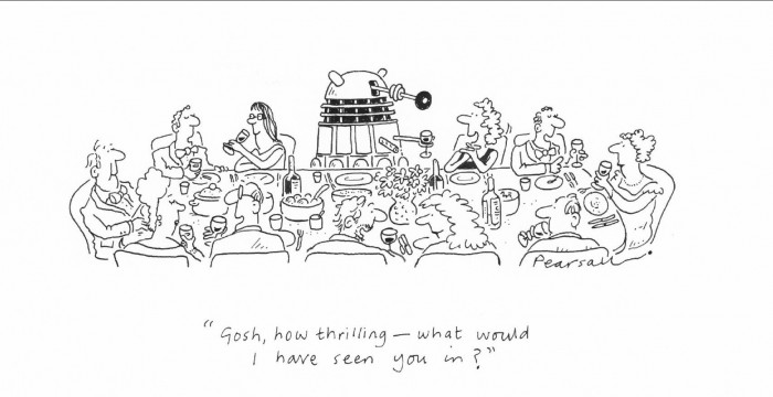 Dalek at dinner party
